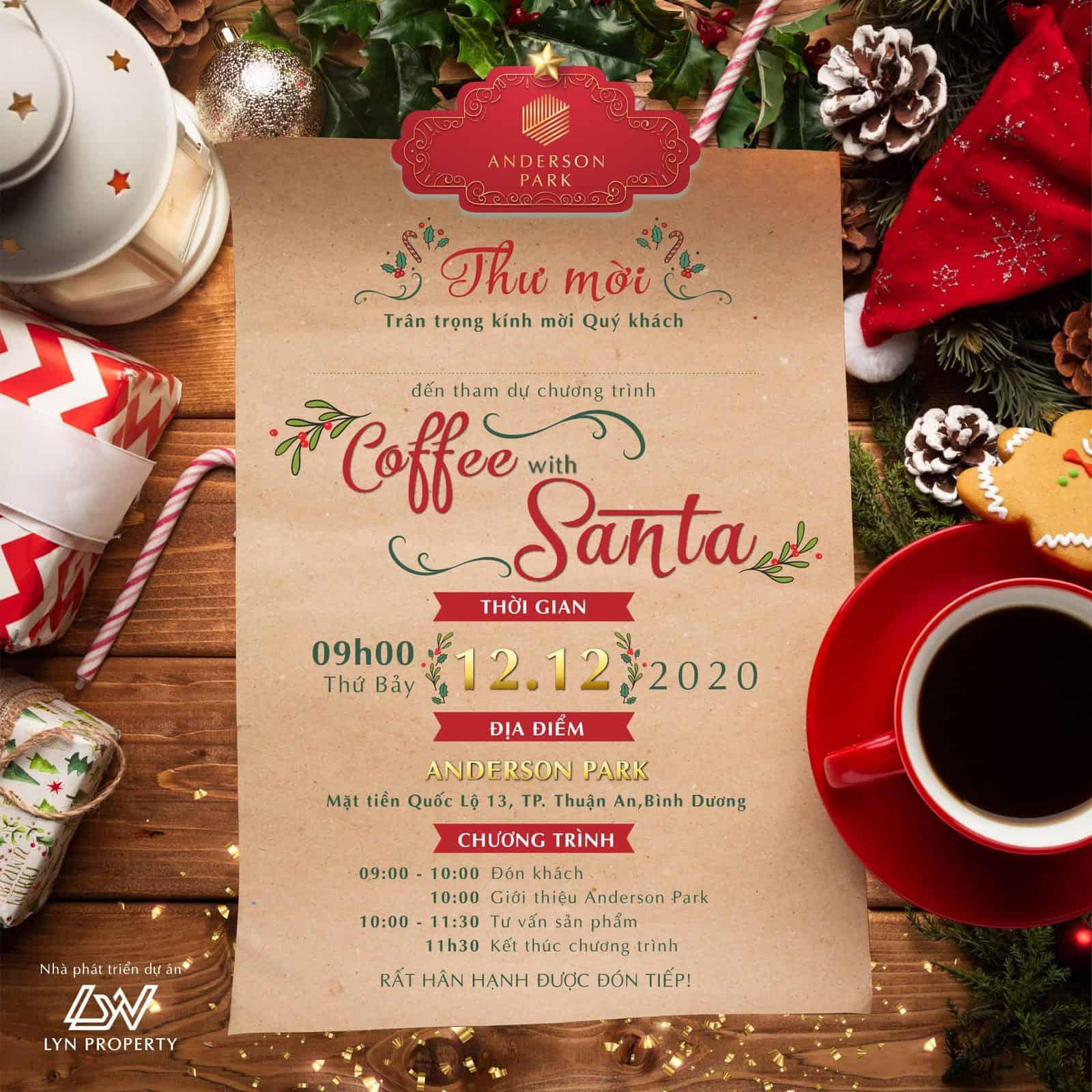 "SỰ KIỆN ""COFFEE WITH SANTA"" ĐẶC BIỆT TẠI ANDERSON PARK"