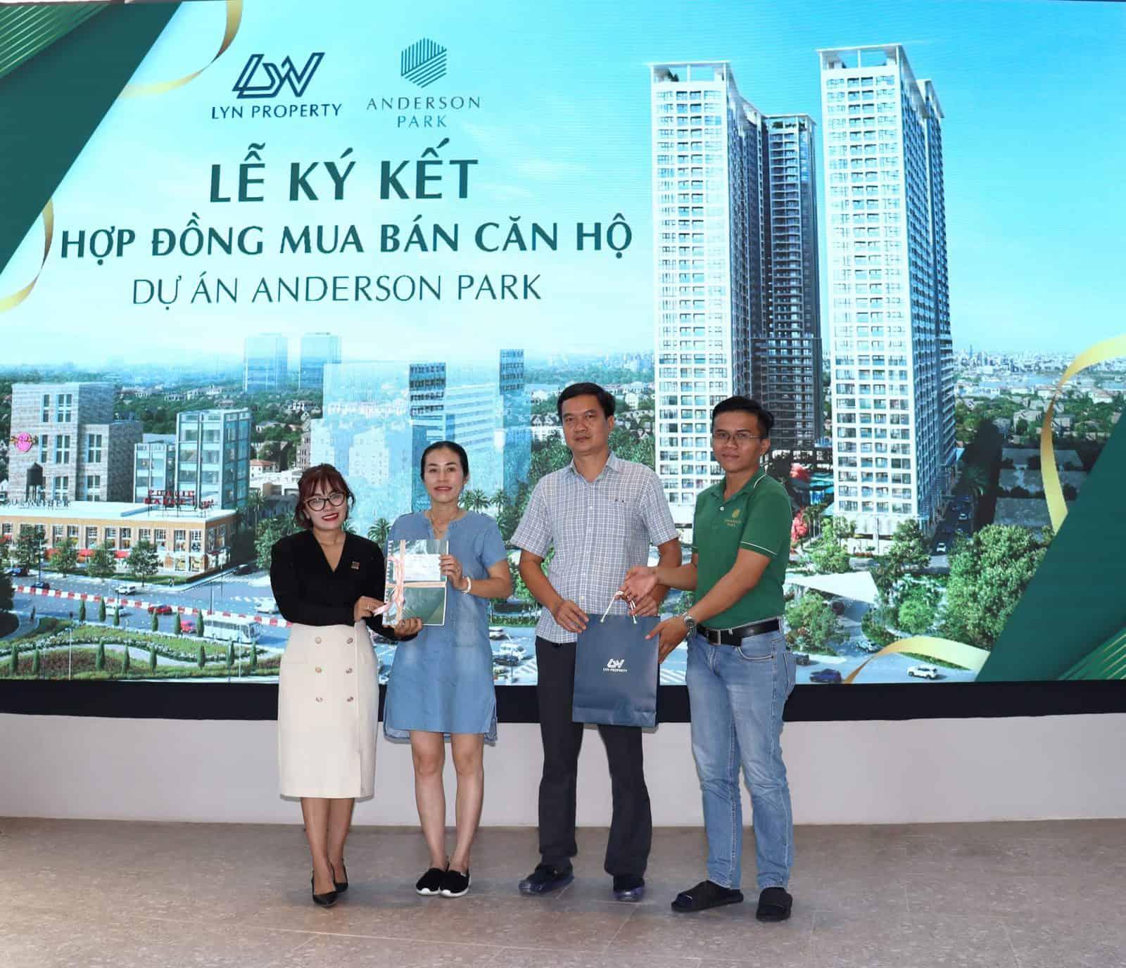 Lễ ký kết hợp đồng mua bán căn hộ Anderson Park – Cột mốc quan trọng tạo niềm tin và động lực cho khách hàng
